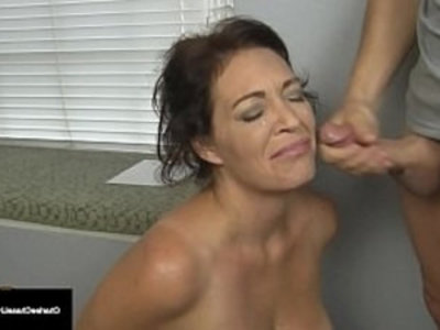 Husbands Employer Gets Milf Charlee Chase To Suck His Cock! | blowjob  boss  brunette  busty  cock  cock sucking  cougars  couple  cumshots  domination