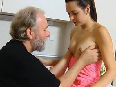 Crazy old lad licks young pussy | crazy  old and young  pussy  pussy licking  young