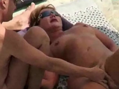 Nude BEACH VOYEUR 3some | 3some   beach   mature   nudity