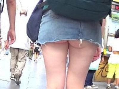Upskirt as walking on street | public sex