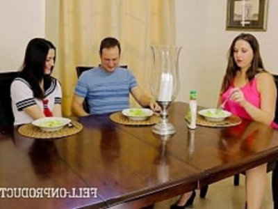 Taboo Passions Sister fucks while mom watches Addie Juniper Madisin | 3some  amateur  brother  family taboo  mature  milf  sister  son and mom  teens