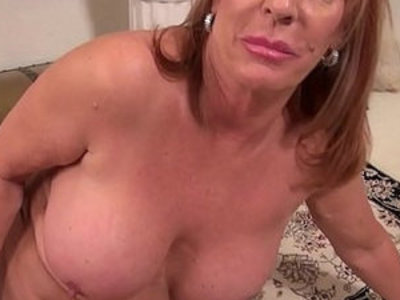 Big titted Mature mom on the rug in dress | mature   son and mom   titjob