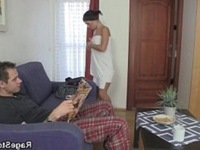 Forced blowjob and fuck after shower | blowjob   forced sex   rough sex   shower