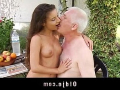 Little pervert seduce and fuck old man | ball licking  close up  cum in mouth  cumshots  cunnilingus  doggy  masturbation  old and young  old man  perverts