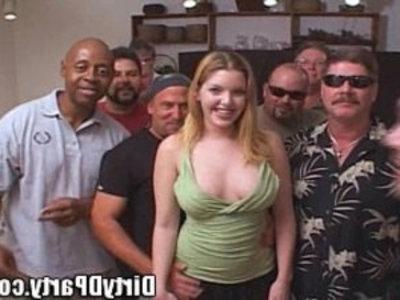 Candi Apple Comes to Play With The Tampa Bukkake Crew! | bukkake  pornstars