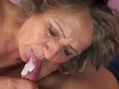 Chubby grandma orally pleasured | chubby girls  gilf  grandma  oral sex