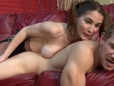 Molly and alex at home pegging strapon femdom big tits | big tits   femdom   strap on