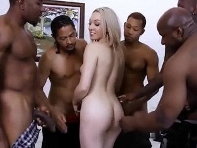 Ll bbc gangbang | black cock  blonde  creampies  facials  gangbang  sluts