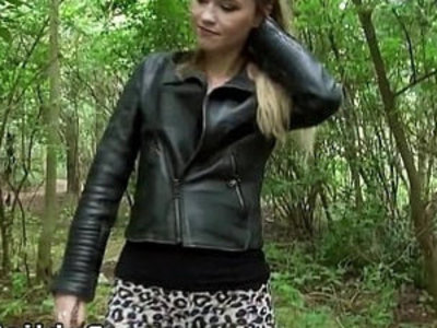 Pretty blonde fucks till facial outdoor | blonde   facials   outdoor   pretty girls