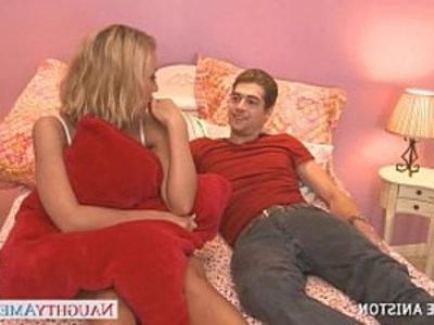 Nasty blondie Nicole Aniston gives oral sex | blonde  blowjob  busty  cock sucking  hardcore  nasty girls  oral sex  pornstars