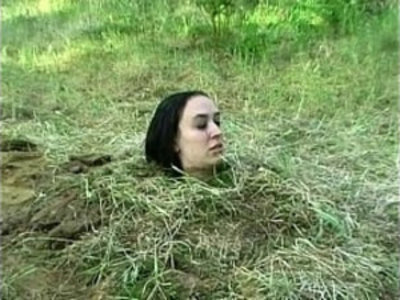 Forest bdsm burial and bizarre domination of crying slavegirl | bdsm  bizarre  bondage  domination  extreme  humiliation  outdoor  punishment