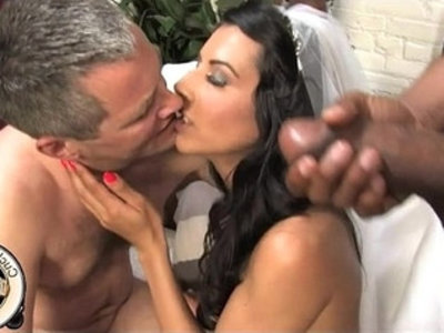 French bride meets black bull for sex   black  black cock  cock  couple  cuckold  femdom  french girls  hubby  humiliation  husband