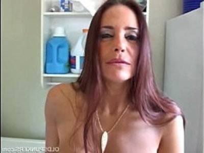 Mature brunette winking asshole | ass  ass worship  big tits  brunette  cougars  dildo  masturbation  mature  milf  old and young