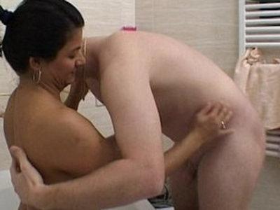 Bath Time With horny Mature Stepmom | bathroom  horny girls  mature  stepmom