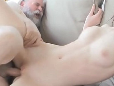 Old chap fucks her young pussy | juicy girls  old and young  pussy  young