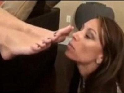 My Mom Has a Foot Fetish | cock sucking  fetish  footjob  legs  son and mom  worship