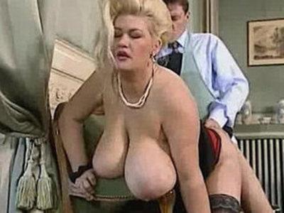 Big tit blonde babe gets a good fucking   bbw  blonde  tits