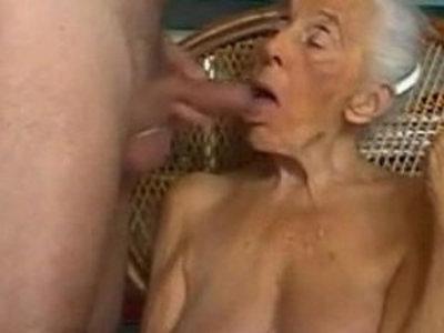 Naughty Grandma Giving Blowjob At Home | blowjob  gilf  grandma  naughty girls
