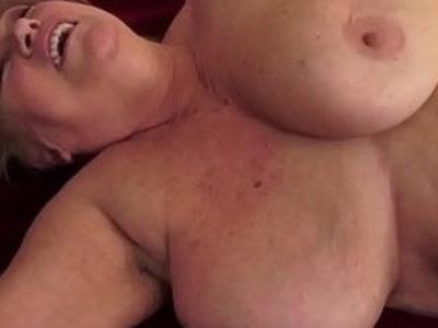 Tubby granny jizz mouthed | gilf  sperm