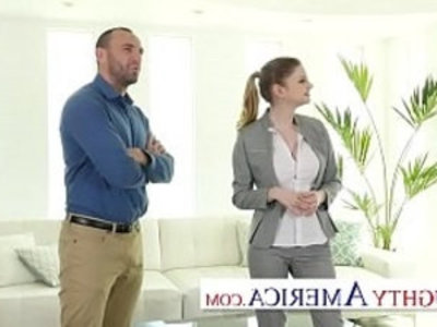 Naughty America Bunny Colby knows how to sell a house by fucking the customer | american girls  ball licking  big booty  blonde  cum in mouth  deepthroat  facials  masturbation  naughty girls