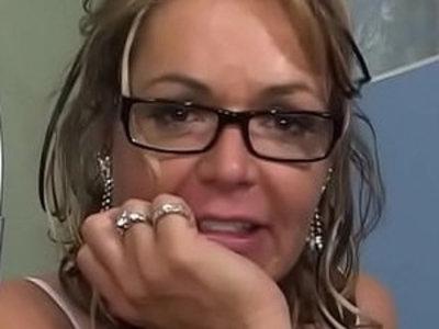 Grandma gets smashed on the bed   bedroom  gilf  grandma