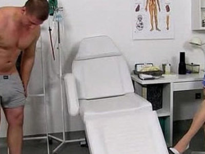 Stocking legs cougar doctor Maya stroking penis till cum on tits | cougars   cum on tits   dick   doctor   legs   sperm   stockings   tits
