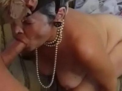 Grandma Fucks her Young brunette slut sucks Dick | brunette  cock  cock sucking  dick  gilf  grandma  young