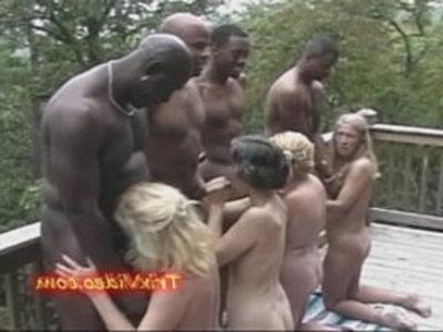 Slutty Grannys fuck BBCs | black cock  gilf  grandma  interracial  mature  milf  orgy party  sluts  swingers