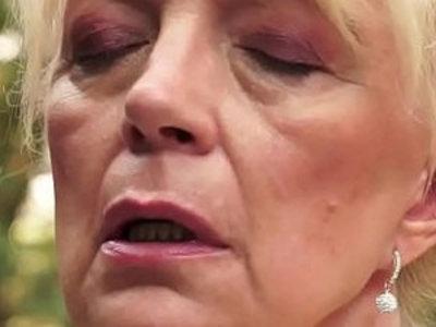 Jizz mouthed grandma blow | blowjob  gilf  grandma  sperm