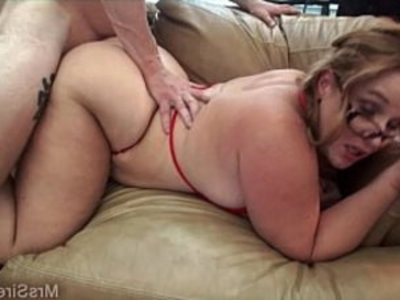 Fucking Hubby and His Friend | 3some   bbw   big booty   big tits   blowjob   chubby girls   friends   gagging   hubby   milf