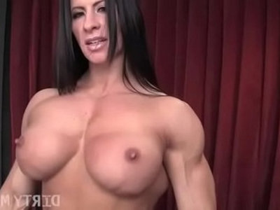 Female bodybuilder angela salvagno loves having a cock | cock   muscle