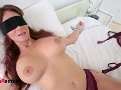 Blindfolded mommy thinks its her hubby | blowjob  family taboo  hardcore  horny girls  hubby  lingerie  milf  mommy  pov  son and mom