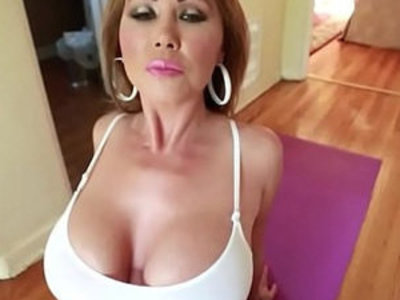 Big tit mom does yoga and gets fucked | son and mom   tits   yoga