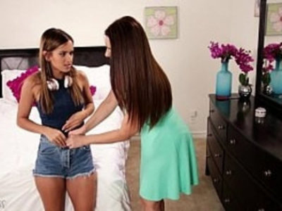 Mom sniffing the panties of a young girl! Mindi Mink, Uma Jolie | busty   girl on girl   girls   lesbians   milf   mommy   panties   son and mom   young