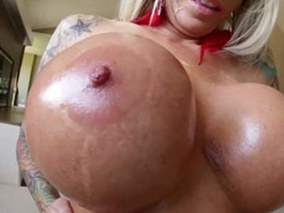 Ho gets cum on huge round tits | cum on tits   round ass   sperm   tits