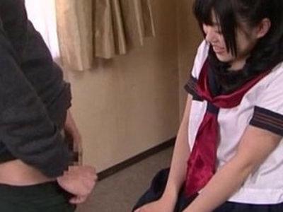 Subtitled cfnm Japanese schoolgirl Tsugumi Mutou gokkun blowjob   blowjob  cfnm  japanese girls  school girls