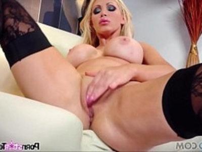 Pornstar Tease Nikki Benz Reveal her big boobs and perfectly tight twat | blonde  boobs  busty  fingering  hardcore  lingerie  masturbation  pornstars  teasing  tight pussy