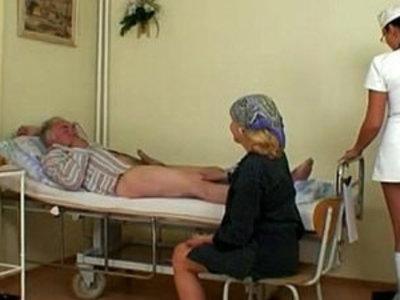 Nubile Nurse Gets a Show   nurse