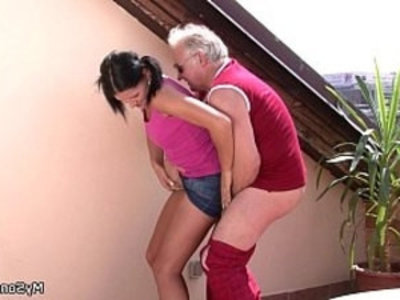 Cheating girlfriend sucks and riding old cock | cheating wife   cock   cock sucking   girlfriend   old and young   old man   riding cock