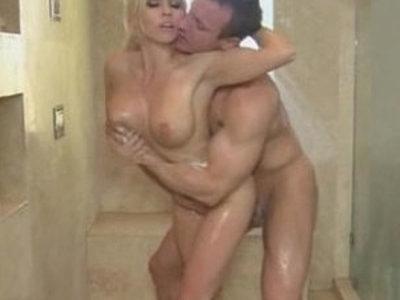 Gorgeous blonde Christie Stevens shower | blonde  gorgeous  shower