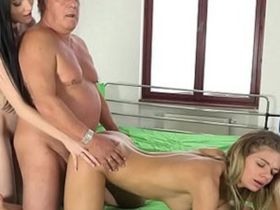 Grandpa at the doctor fucks young nurses in old young porn   3some  doctor  grandpa  nurse  old and young  young