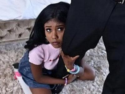 Black babysitter gets caught masturbating | babysitter  black  caught  ebony  masturbation