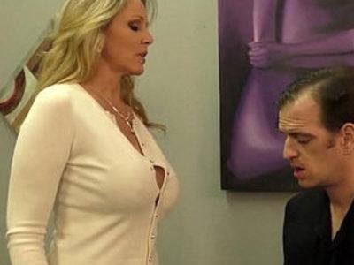 Julia ann milks stepson before his date | son and mom  stepson