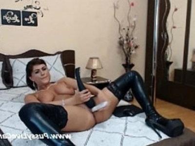 Busty Bitch Likes To Masturbate With Sex Toys On Webcam | amateur  bitch  busty  dildo  masturbation  sex toys  webcam show  webcams