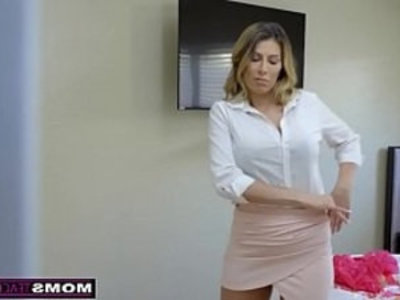 MomsTeachSex Hot Mom Caught With StepSiblings In Threesome!   3some  blonde  blowjob  caught  cowgirls  cum on face  cumshots  cute petite  hardcore  milf