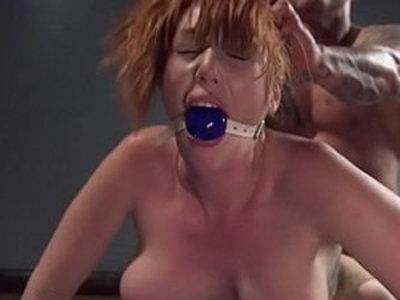 Gagged huge ass and tits bbw redhead fucked | anal  ass  bbw  gagging  redhead  tits