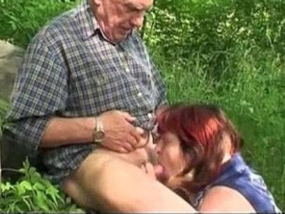 Granny and Grandpa fuck outdoor | gilf  grandpa  outdoor