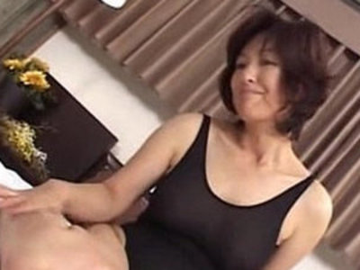 Mature asian a lone mom making sex in swimming suit | asian girls  mature  son and mom