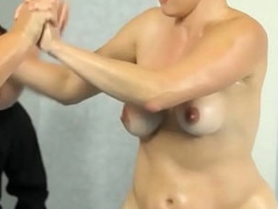 Massive titted bbw wrestles before fucking | bbw   titjob