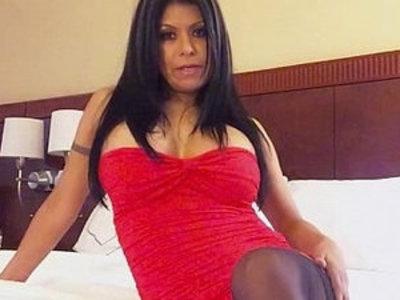 Big Tit Latina Gabby Quinteros Red Dress Tease   latin girls  teasing  tits